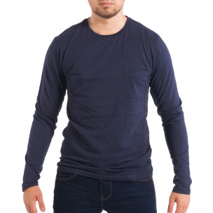 Ανδρική μπλε μπλούζα με τσέπη RESERVED