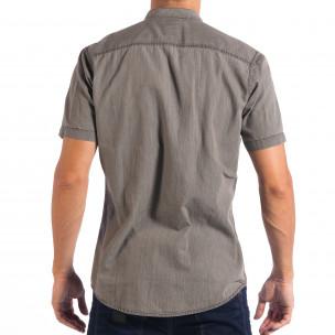 Ανδρικό γκρι κοντομάνικο πουκάμισο RESERVED Regular fit   2