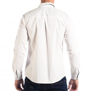 Ανδρικό λευκό πουκάμισο Slim fit CROPP  2