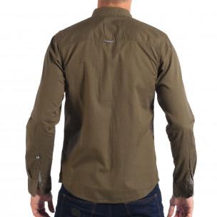 Ανδρικό πράσινο πουκάμισο CROPP  2