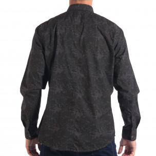 Ανδρικό γκρι πουκάμισο παραλλαγής  2