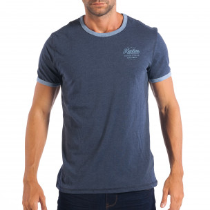 Ανδρική μπλε κοντομάνικη μπλούζα RESERVED