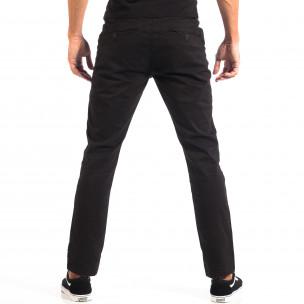 Ανδρικό μαύρο Chino παντελόνι CROPP  2