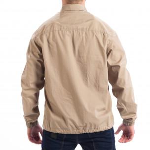 Ανδρικό μπεζ Regular fit πουκάμισο τύπου μπουφάν RESERVED  2