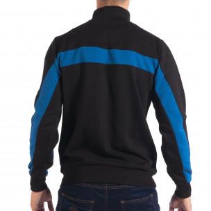 Ανδρικό μαύρο φούτερ με μπλε ρίγα House  2