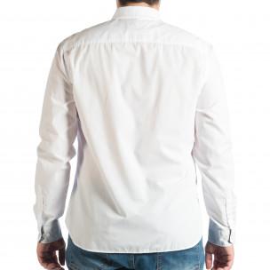 Ανδρικό λευκό πουκάμισο RESERVED  2