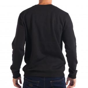 Ανδρική μαύρη μπλούζα με Hip-Hop μοτίβο CROPP  2