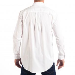 Ανδρικό λευκό πουκάμισο Regular fit με πριντ  2