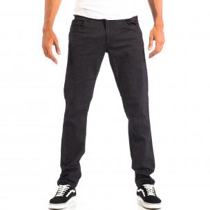 Ανδρικό μαύρο Slim παντελόνι RESERVED