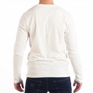 Ανδρική λευκή μπλούζα με τσέπη RESERVED  2