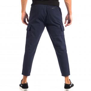 Ανδρικό μπλε Cropped Cargo παντελόνι RESERVED  2