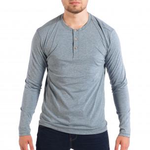Ανδρική γαλάζια μπλούζα RESERVED