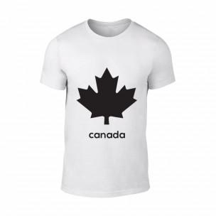 Κοντομάνικη μπλούζα Canada λευκό Χρώμα Μέγεθος S