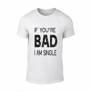 Κοντομάνικη μπλούζα Bad λευκό
