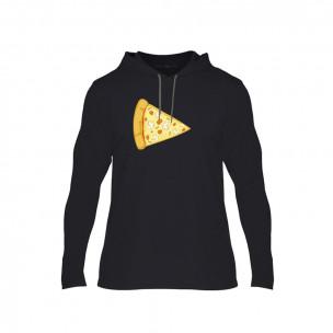 Κοντομάνικη μπλούζα Pizza μαύρο, Μέγεθος M