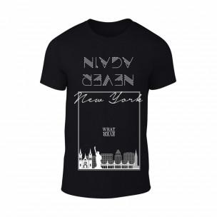 Κοντομάνικη μπλούζα New York μαύρο Χρώμα Μέγεθος XL