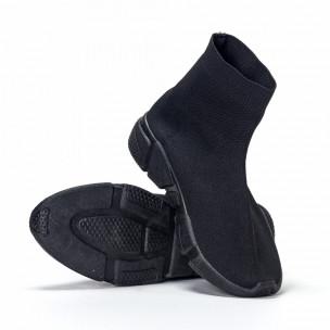 Ανδρικά μαύρα αθλητικά παπούτσια slip-on All-black  2