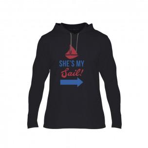 Κοντομάνικη μπλούζα Sail Anchor μαύρο, Μέγεθος S