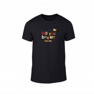 Κοντομάνικη μπλούζα Bee & Honey μαύρο Χρώμα Μέγεθος M