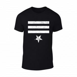 Κοντομάνικη μπλούζα Star 3 μαύρο Χρώμα Μέγεθος XL