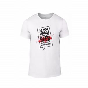 Κοντομάνικη μπλούζα Don't touch me! λευκό Χρώμα Μέγεθος L