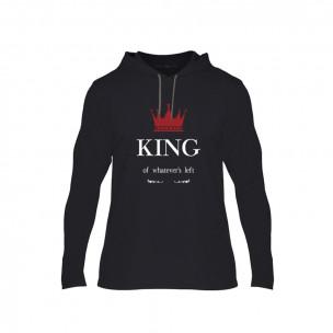 Κοντομάνικη μπλούζα King Queen μαύρο, Μέγεθος XL