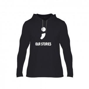 Φούτερ Our Stories μαύρο, Μέγεθος M