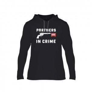 Φούτερ Partners in Crime μαύρο, Μέγεθος L