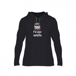 Κοντομάνικη μπλούζα Nutella & Bread μαύρο, Μέγεθος L
