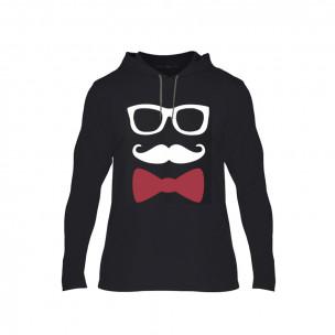 Κοντομάνικη μπλούζα Hipster Parts μαύρο, Μέγεθος S