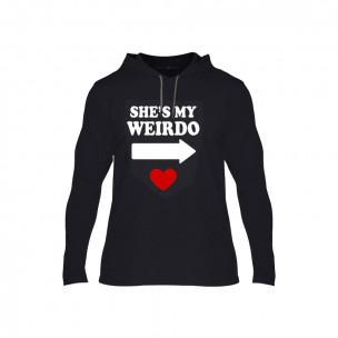 Κοντομάνικη μπλούζα Weirdo μαύρο, Μέγεθος XL