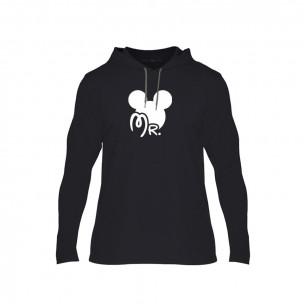 Φούτερ Mr. Mickey Mrs. Minnie μαύρο, Μέγεθος XL