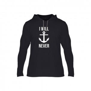 Κοντομάνικη μπλούζα Never Sink μαύρο, Μέγεθος XL