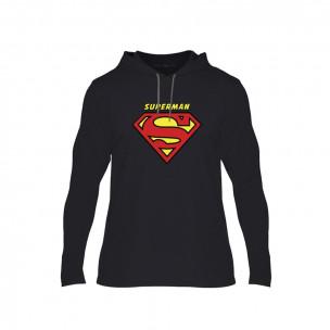 Κοντομάνικη μπλούζα Superman & Supergirl μαύρο, Μέγεθος S