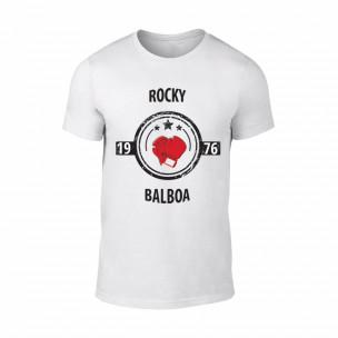 Κοντομάνικη μπλούζα Balboa λευκό Χρώμα Μέγεθος XL
