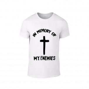 Κοντομάνικη μπλούζα In Memory of my Enemies λευκό