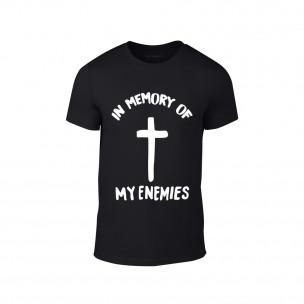 Κοντομάνικη μπλούζα In Memory of my Enemies μαύρο TEEMAN