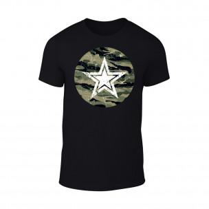 Κοντομάνικη μπλούζα Star μαύρο