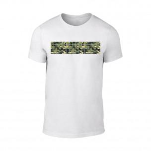 Κοντομάνικη μπλούζα Military λευκό