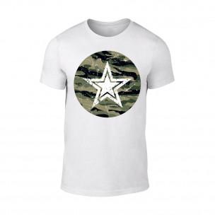 Κοντομάνικη μπλούζα Star λευκό