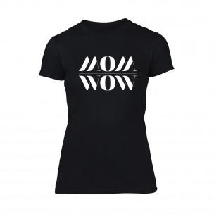 Γυναικεία Μπλούζα Mom Wow μαύρο