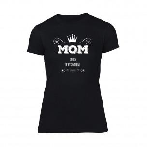 Γυναικεία Μπλούζα Mom Queen Of Everything μαύρο