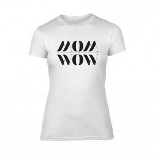Γυναικεία Μπλούζα Mom Wow λευκό