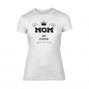 Γυναικεία Μπλούζα Mom Queen Of Everything λευκό