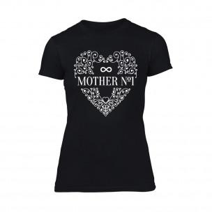 Γυναικεία Μπλούζα Mother No.1 μαύρο