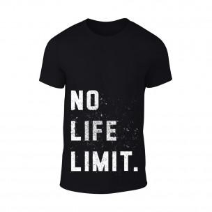 Κοντομάνικη μπλούζα No Life Limit μαύρο