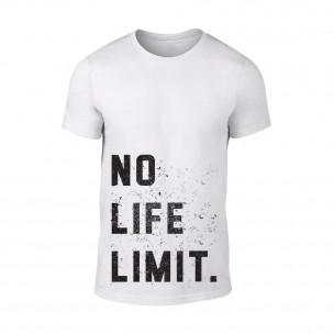 Κοντομάνικη μπλούζα No Life Limit λευκό