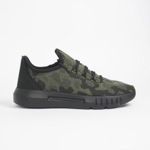 Ανδρικά πράσινα καμουφλαζ αθλητικά παπούτσια ελαφρύ μοντέλο 2