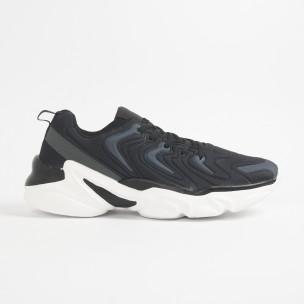 Ανδρικά μαύρα αθλητικά παπούτσια  2