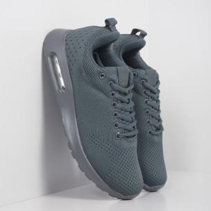 Ανδρικά γκρι αθλητικά παπούτσια με αερόσολα